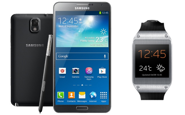 Samsung Galaxy Note3 and Galaxy gear Pre-Booking start in India